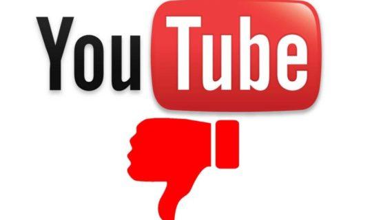 youtube problema dei dislike