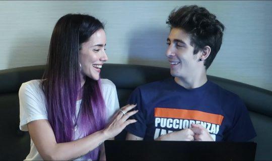 Giulia Penna bacio con Favij